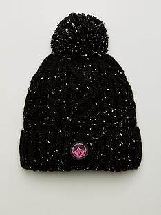 superdry-gracie-cable-beanie-black