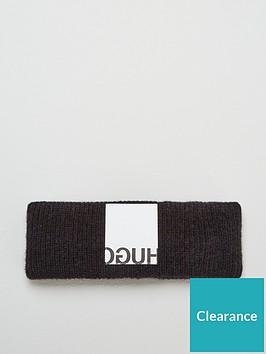 hugo-wool-mix-knitted-headband-black
