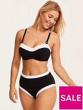figleaves-underwired-bandeau-bikini-crop-top-blackwhite