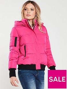 armani-exchange-padded-jacket-pink