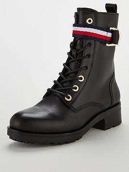 tommy-hilfiger-corporate-ribbon-biker-boots-black