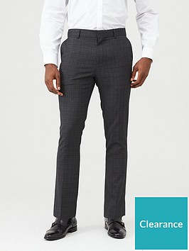 very-man-checked-formal-suit-trousers-grey