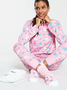 chelsea-peers-unicorn-pjs-in-a-bag-with-matching-socks-pink