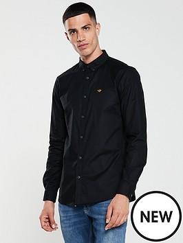 river-island-long-sleeve-black-oxford-shirt
