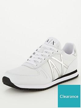 armani-exchange-low-cut-sneakers-white