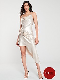 river-island-river-island-satin-tie-side-slip-dress-gold