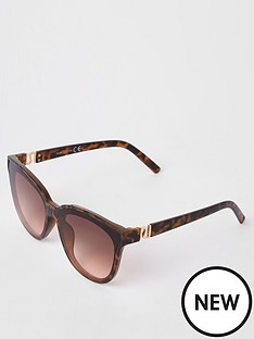 river-island-river-island-tortoiseshell-oversized-sunglasses-brown
