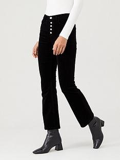 v-by-very-slim-kick-flare-cord-trouser-black