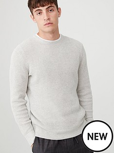 v-by-very-twisted-yarn-crew-neck-jumper-stone