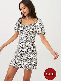 miss-selfridge-dalmatiannbspprint-tea-dress-ivory