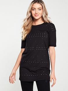 v-by-very-longline-sequin-tee-black
