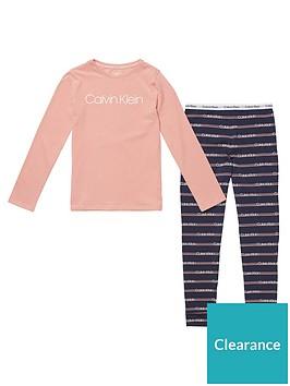 calvin-klein-girls-stripe-long-sleeve-pyjama-set-pinknavy