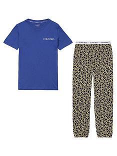 calvin-klein-boys-all-over-print-pyjama-set-dark-blue