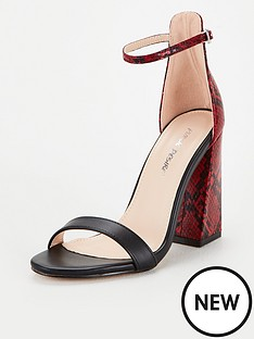 public-desire-tess-snake-print-heeled-sandals-red