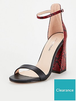 public-desire-tess-snake-print-heeled-sandals-red