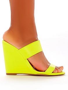 public-desire-lena-heeled-wedge-sandals-neon-yellow