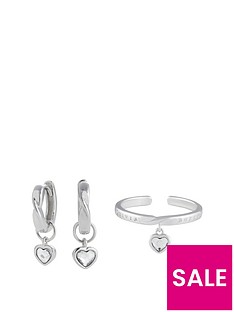 olivia-burton-olivia-burton-sterling-silver-plated-interlink-heart-gift-set