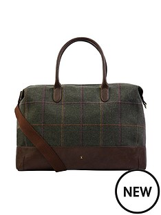 joules-paddington-tweed-overnight-bag