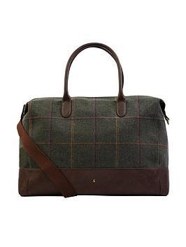 joules-paddington-tweed-overnight-bag