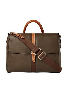 joules-banbury-carriage-leather-satchel-khaki-green