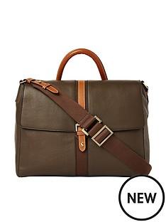 joules-banbury-carriage-leather-satchel-khaki-green