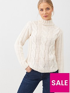v-by-very-bling-cable-jumper-ivory