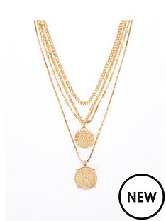 v-by-very-coin-layered-necklace-gold