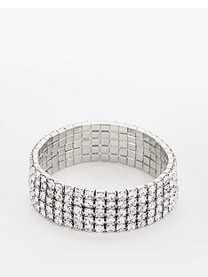 v-by-very-rhinestone-stretch-bracelet-silver