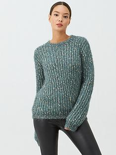 v-by-very-metallic-twist-jumper-green