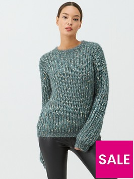 v-by-very-metallic-twist-jumper-green