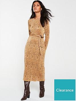 v-by-very-plisse-animal-midaxi-dress-mustard