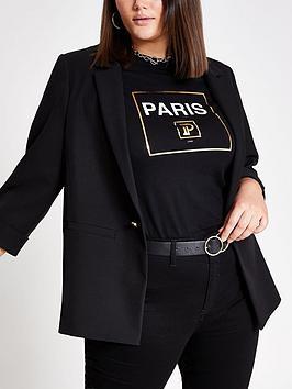 ri-plus-turn-up-cuff-blazer--black