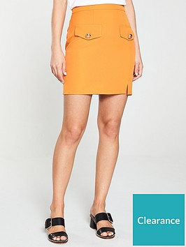 river-island-pocket-a-line-skirt-orange