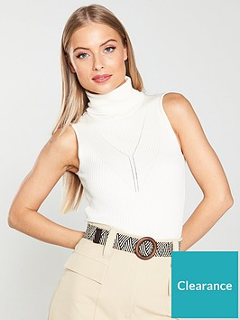 river-island-river-island-sleeveless-knitted-roll-neck-top-cream