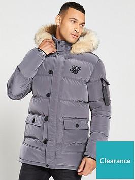 sik-silk-shiny-padded-parka-jacket-grey