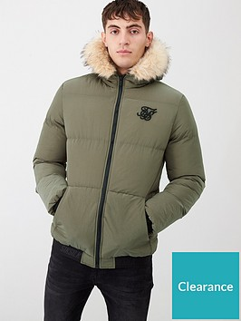 sik-silk-distance-padded-jacket-khaki