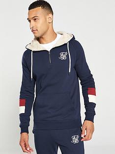 sik-silk-quarter-zip-overhead-hoodie-navy