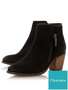 dune-london-wide-fit-ponntoon-side-zip-stack-heel-ankle-boots-black