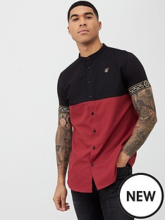 sik-silk-cut-amp-sew-cartel-short-sleeve-shirt-blackred