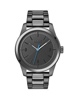 hugo-create-grey-textured-and-blue-detail-dial-grey-ip-stainless-steel-bracelet-mens-watch