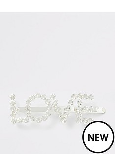 river-island-river-island-diamante-love-hair-slide-silver