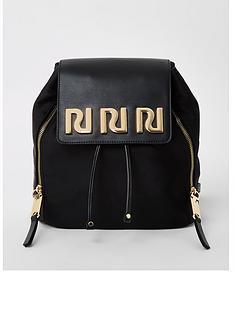 river-island-branded-backpack-black