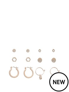 river-island-river-island-delicate-earring-pack-rose-gold