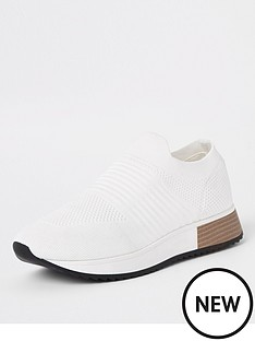 river-island-knit-trainer-white