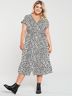 oasis-curve-shattered-heart-roll-sleevenbspbutton-through-midi-dress-mono