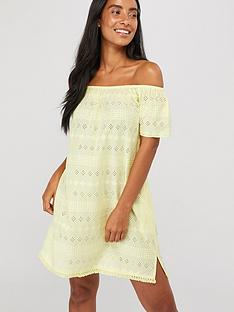 accessorize-off-shoulder-schiffli-dress-yellow