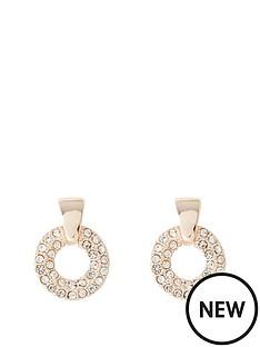 river-island-river-island-diamante-circle-stud-earring-rose-gold