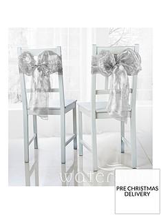 waterside-pack-of-6-metallic-organza-chair-bows-ndash-silver