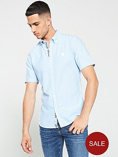 river-island-short-sleeve-blue-stripe-shirt