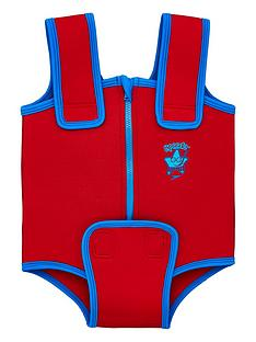 speedo-seasquad-neoprene-baby-suit-redblue